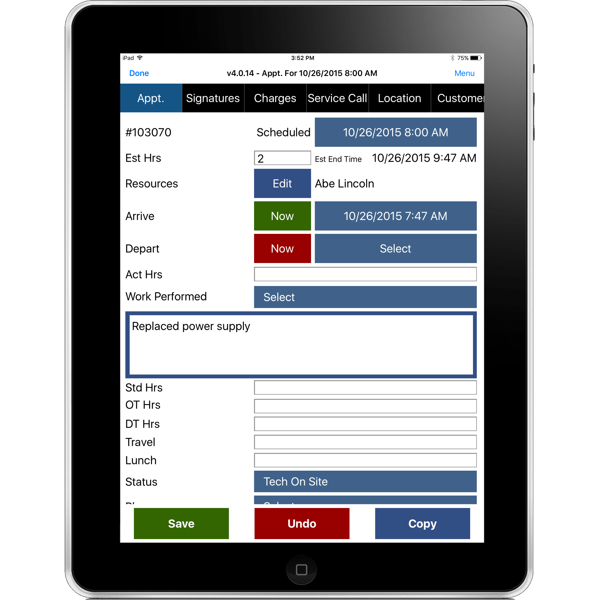 Mobile Resource Manager Field Service Management Software for Apple iPad
