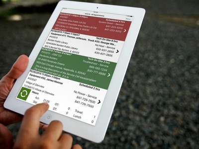 Field App on Apple iPad