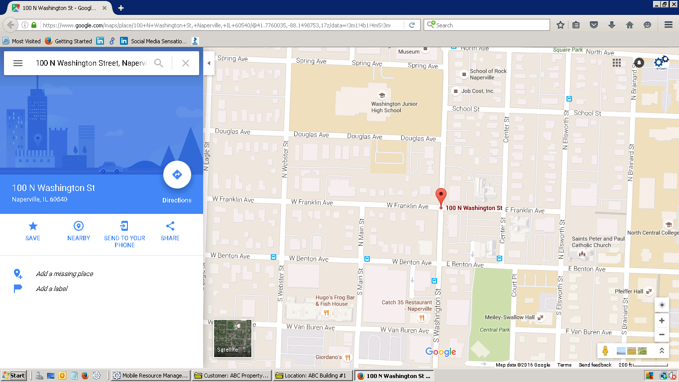 Google Map of ABC Building #1 Location