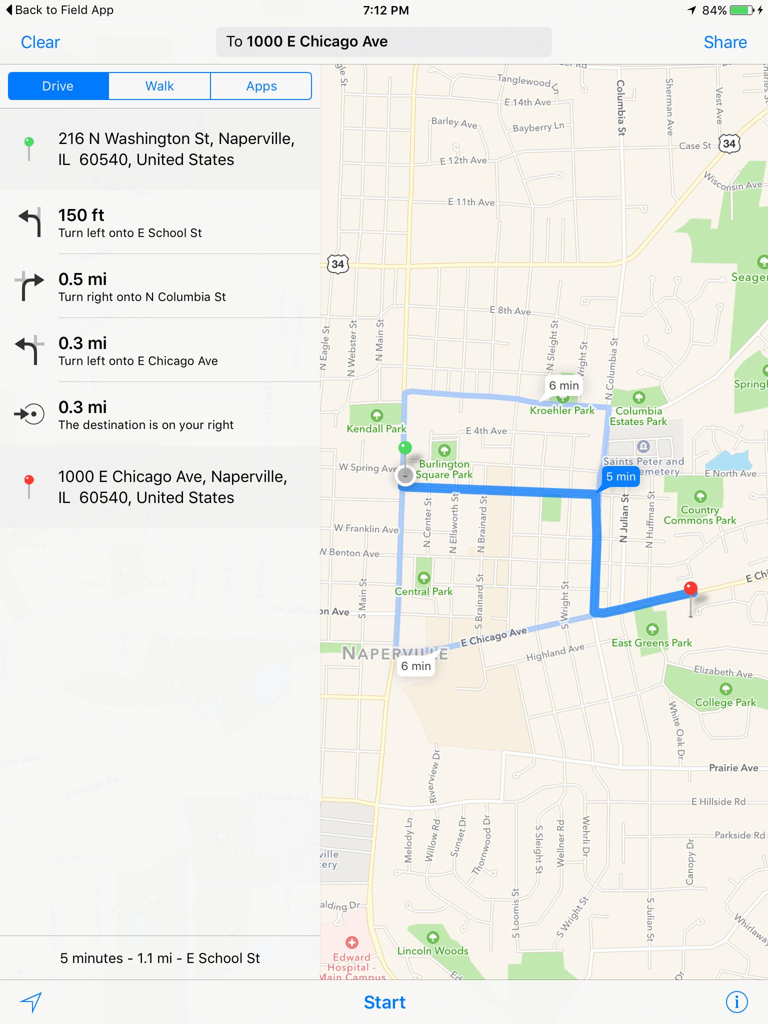 Location Map - Apple