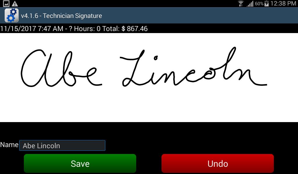 Technician Signature