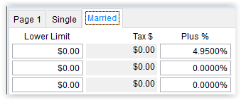 2018 Illinois State Tax Table Married Tab in Visual ContrAcct